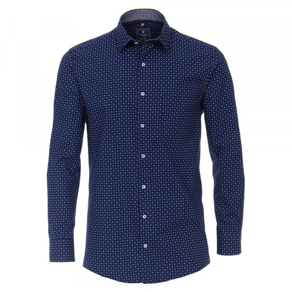 Redmond COMFORT FIT Hemd PRINT dunkelblau mit Kent Kragen in klassischer Schnittform