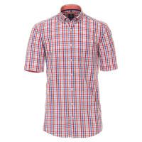 Redmond COMFORT FIT Hemd UNI POPELINE rot mit Button Down Kragen in klassischer Schnittform