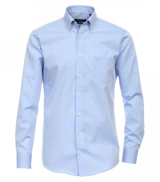 "CASAMODA Hemd ""Chambray"" hellblau mit Button-Down Kragen in moderner Schnittform"