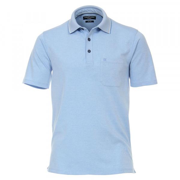 CASAMODA Poloshirt mittelblau in klassischer Schnittform