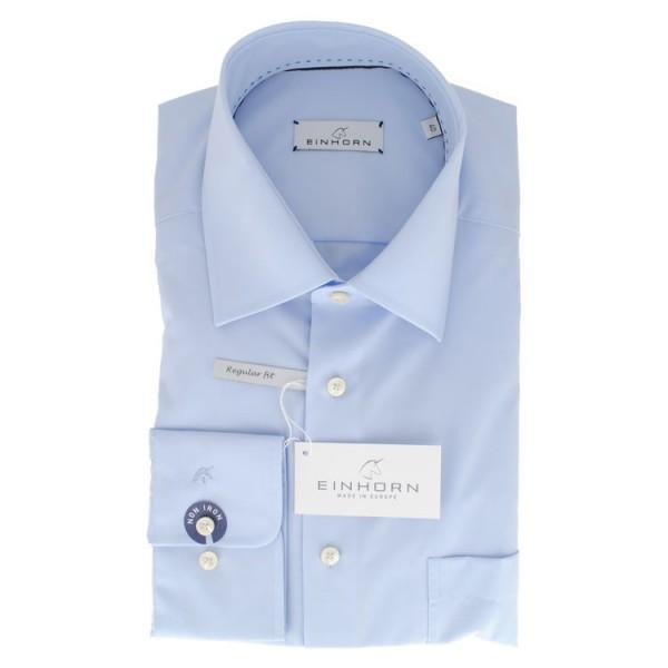 """Einhorn Hemd """"Derby"""" hellblau mit Kent Kragen in klassischer Schnittform"""