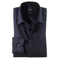 OLYMP Level Five body fit Hemd TWILL dunkelblau mit New York Kent Kragen in schmaler Schnittform