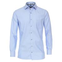 CASAMODA Hemd COMFORT FIT STRUKTUR hellblau mit Kent Kragen in klassischer Schnittform