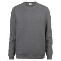 OLYMP Level Five Strick Pullover grau in schmaler Schnittform