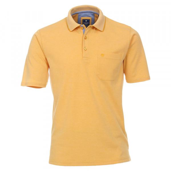 Redmond Poloshirt gelb in klassischer Schnittform