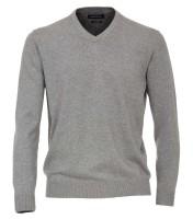 CASAMODA Pullover in grau mit V-Ausschnitt