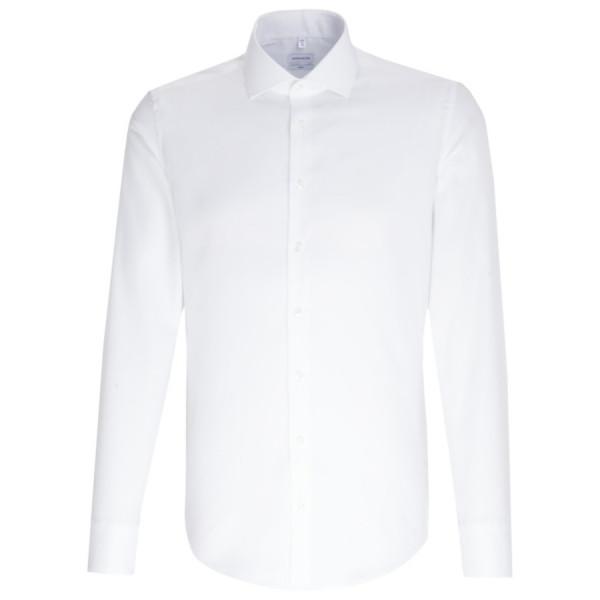 Seidensticker SLIM FIT Hemd FEIN OXFORD weiss mit Spread Kent Kragen in schmaler Schnittform