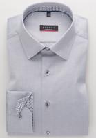 Eterna Hemd MODERN FIT TWILL grau mit Modern Kent Kragen in moderner Schnittform