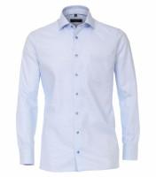 CASAMODA Hemd MODERN FIT STRUKTUR hellblau mit Kent Kragen in moderner Schnittform