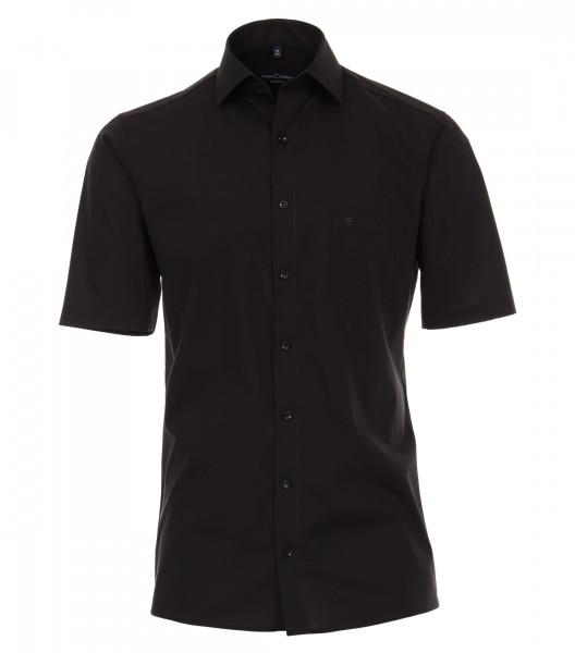 CASAMODA Hemd MODERN FIT UNI POPELINE schwarz mit Kent Kragen in moderner Schnittform