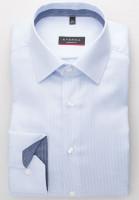 Eterna Hemd MODERN FIT TWILL STREIFEN hellblau mit Modern Kent Kragen in moderner Schnittform