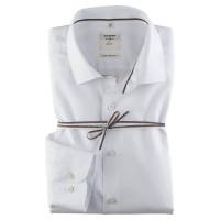 OLYMP Level Five Smart Business body fit Hemd UNI POPELINE weiss mit Kent Kragen in schmaler Schnittform