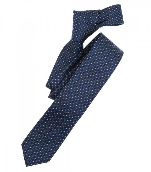 Venti Krawatte dunkelblau gemustert