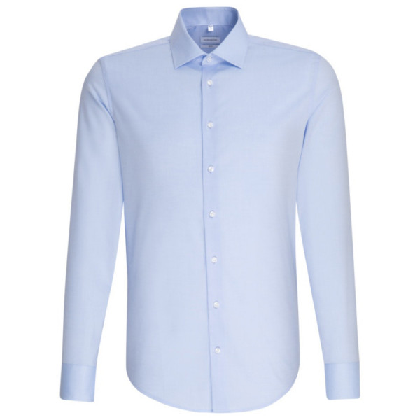 Seidensticker SLIM FIT Hemd CHAMBRAY hellblau mit Business Kent Kragen in schmaler Schnittform