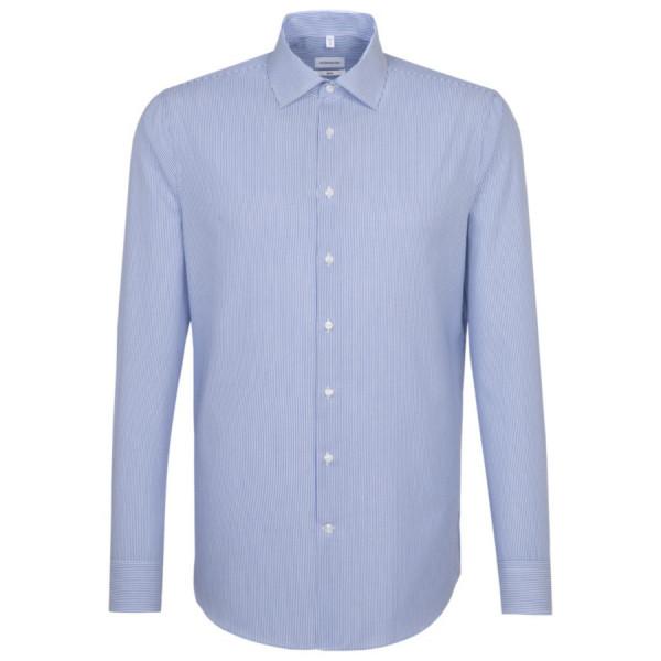 Seidensticker SLIM FIT Hemd OFFICE mittelblau mit Business Kent Kragen in schmaler Schnittform