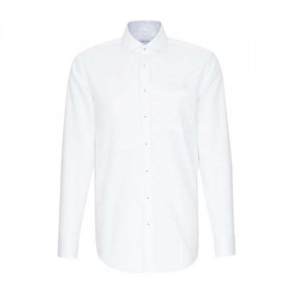 Seidensticker Hemd REGULAR TWILL weiss mit Spread Kent Kragen in moderner Schnittform