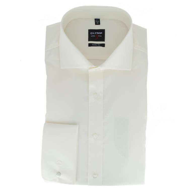 olymp level five body fit hemd beige 609565 20 feine hemden. Black Bedroom Furniture Sets. Home Design Ideas