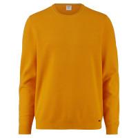 OLYMP Strick Level Five Pullover gelb in schmaler Schnittform
