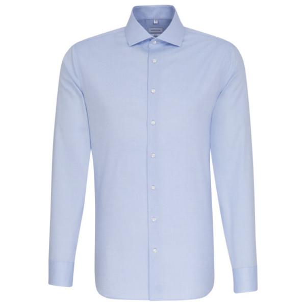 Seidensticker SLIM FIT Hemd FEIN OXFORD hellblau mit Spread Kent Kragen in schmaler Schnittform