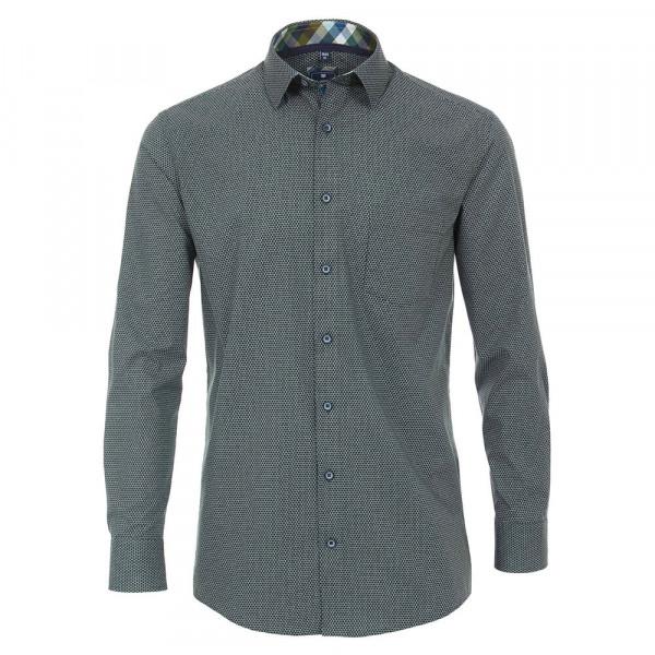 Redmond COMFORT FIT Hemd PRINT grün mit Kent Kragen in klassischer Schnittform