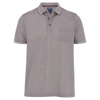 OLYMP Polo modern fit beige in moderner Schnittform