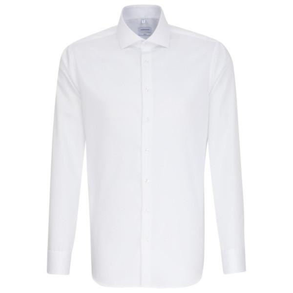 Seidensticker SLIM FIT Hemd TWILL weiss mit Spread Kent Kragen in schmaler Schnittform