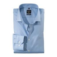 OLYMP No. Six super slim Hemd TWILL hellblau mit Royal Kent Kragen in super schmaler Schnittform