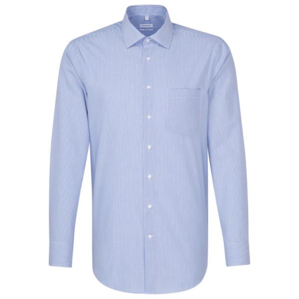 Seidensticker REGULAR Hemd OFFICE mittelblau mit Business Kent Kragen in moderner Schnittform