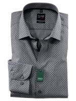 Olymp Hemd LEVEL 5 CHAMBRAY grau mit New York Kent Kragen in schmaler Schnittform