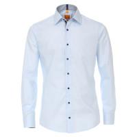Redmond MODERN FIT Hemd UNI STRETCH hellblau mit Kent Kragen in moderner Schnittform