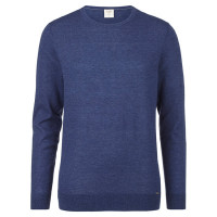 OLYMP Level Five Strick Pullover dunkelblau in schmaler Schnittform