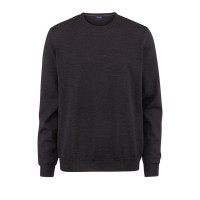OLYMP Strick modern fit Pullover anthrazit in moderner Schnittform