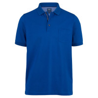 OLYMP Polo modern fit blau in moderner Schnittform
