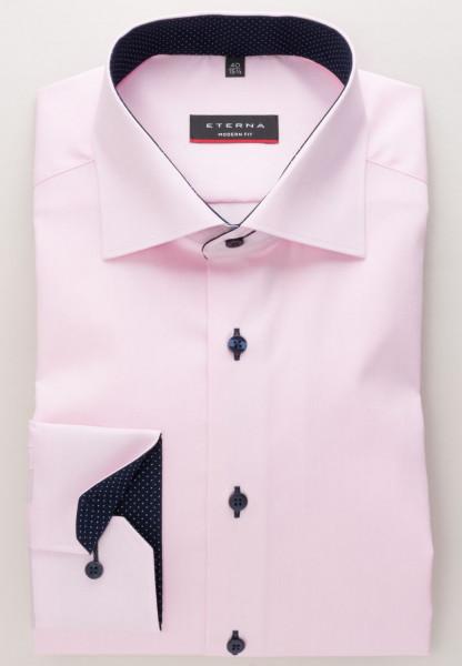 Eterna Hemd MODERN FIT FEIN OXFORD rosa mit Classic Kent Kragen in moderner Schnittform