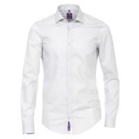 Redmond SLIM FIT Hemd UNI STRETCH grau mit Kent Kragen in schmaler Schnittform