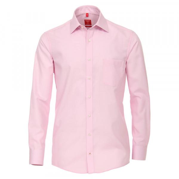 Redmond COMFORT FIT Hemd UNI POPELINE rosa mit Kent Kragen in klassischer Schnittform