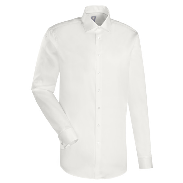Jacques Britt SLIM FIT Hemd SATIN beige mit Kent Kragen in schmaler Schnittform
