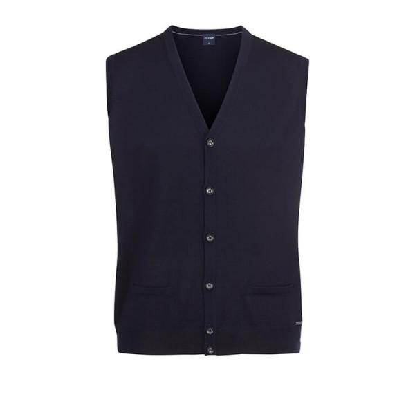 OLYMP Strick modern fit Weste dunkelblau in moderner Schnittform