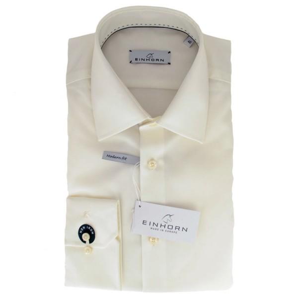 """Einhorn Hemd """"Jamie Slim"""" beige mit Kent Kragen in moderner Schnittform"""