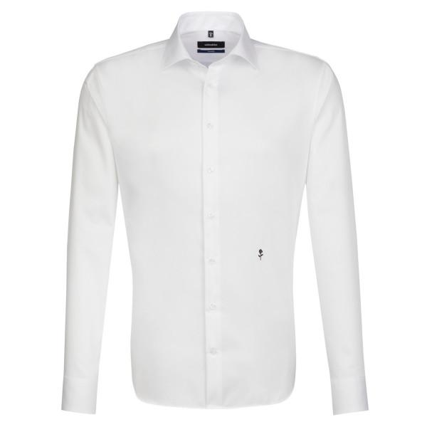 Seidensticker SHAPED Hemd ORIGINAL weiss mit Business Kent Kragen in moderner Schnittform