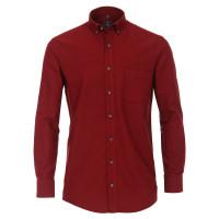 Redmond COMFORT FIT Hemd STRUKTUR rot mit Button Down Kragen in klassischer Schnittform