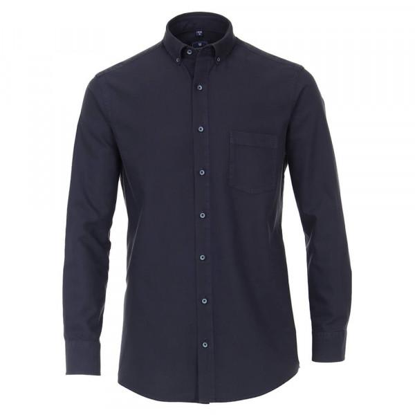 Redmond COMFORT FIT Hemd STRUKTUR dunkelblau mit Button Down Kragen in klassischer Schnittform