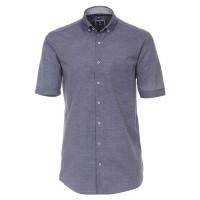 Redmond COMFORT FIT Hemd TWILL dunkelblau mit Button Down Kragen in klassischer Schnittform