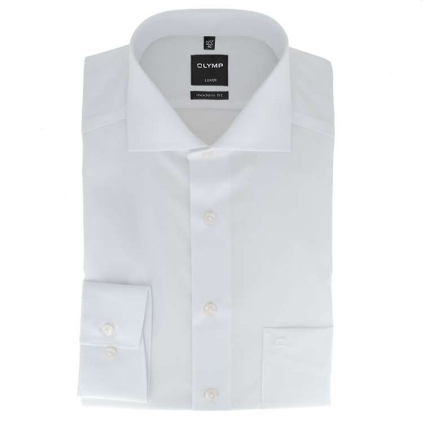 olymp luxor modern fit hemd wei 030864 00 feine hemden. Black Bedroom Furniture Sets. Home Design Ideas