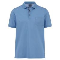 OLYMP Polo modern fit hellblau in moderner Schnittform