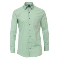 Redmond Hemd REGULAR FIT STRUKTUR grün mit Kent Kragen in klassischer Schnittform