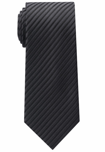Eterna Krawatte schwarz gestreift