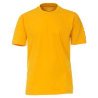 CASAMODA T-Shirt gelb in klassischer Schnittform