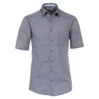Redmond Hemd REGULAR FIT STRUKTUR mittelblau mit Kent Kragen in klassischer Schnittform