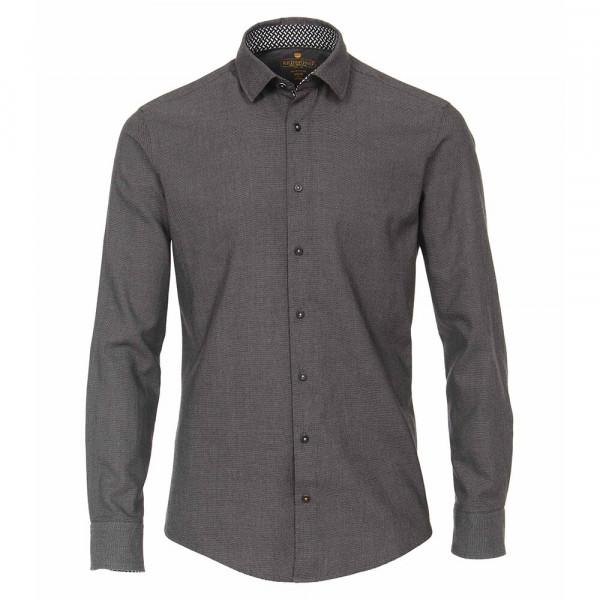 Redmond MODERN FIT Hemd STRUKTUR schwarz mit Kent Kragen in moderner Schnittform